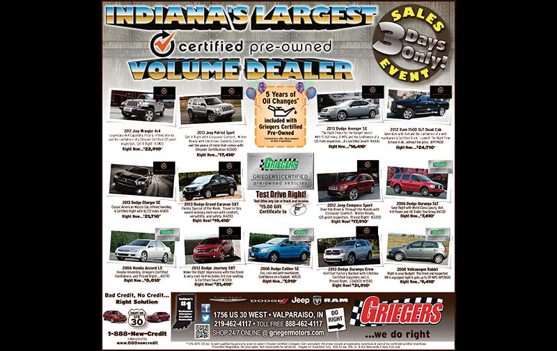Used car print ad